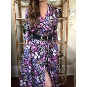 Vintage homemade floral button front dress